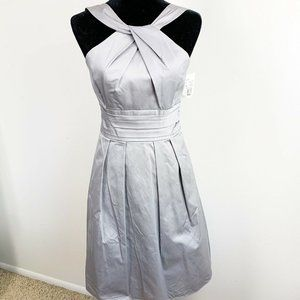 Davids Bridal Violet Halter Bridesmaid Dress